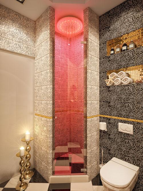 Дизайн ванной комнаты с тропическим душем цены